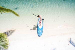 Mit dem Standup-Paddle fliegen